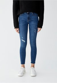 PULL&BEAR - Jeansy Skinny Fit - blue - 0