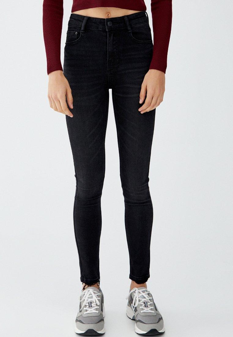 PULL&BEAR - Jeans Skinny Fit - black