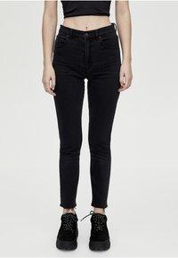 PULL&BEAR - MIT HOHEM BUND - Jeans Skinny Fit - black - 0