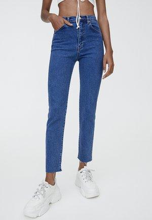 MIT HOHEM BUND - Slim fit jeans - dark blue