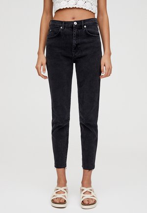 MIT HOHEM BUND - Jean slim - black