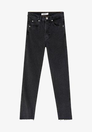 MIT HOHEM BUND - Slim fit jeans - black