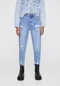PULL&BEAR - MAMA - Jeans a sigaretta - light blue - 0