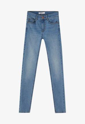 MIT HALBHOHEM BUND - Jeansy Skinny Fit - blue