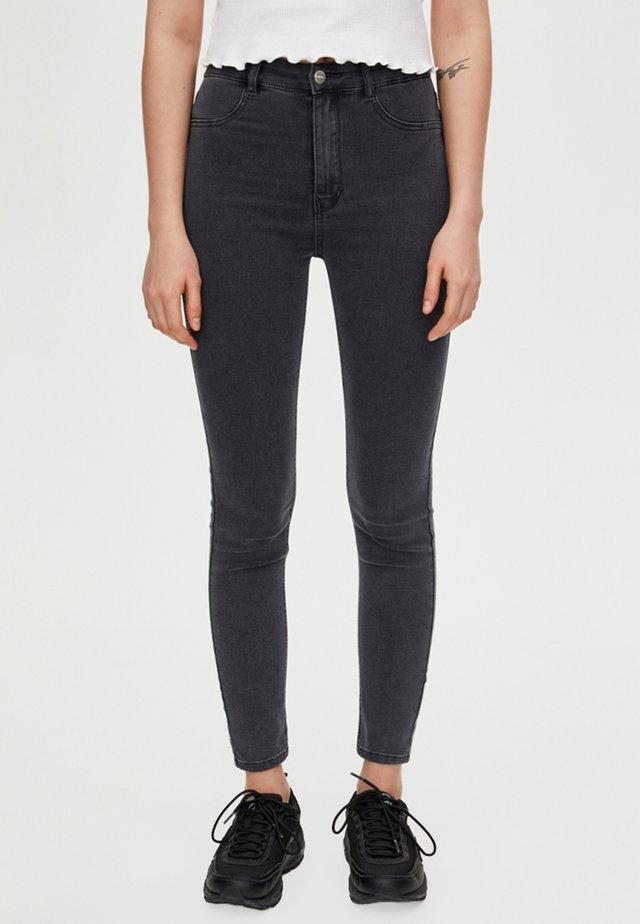 MIT HOHEM BUND - Jeans Skinny Fit - dark grey