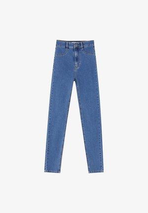 MIT HOHEM BUND - Skinny džíny - blue