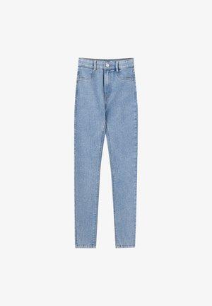 MIT HOHEM BUND - Jeans Skinny Fit - light blue denim