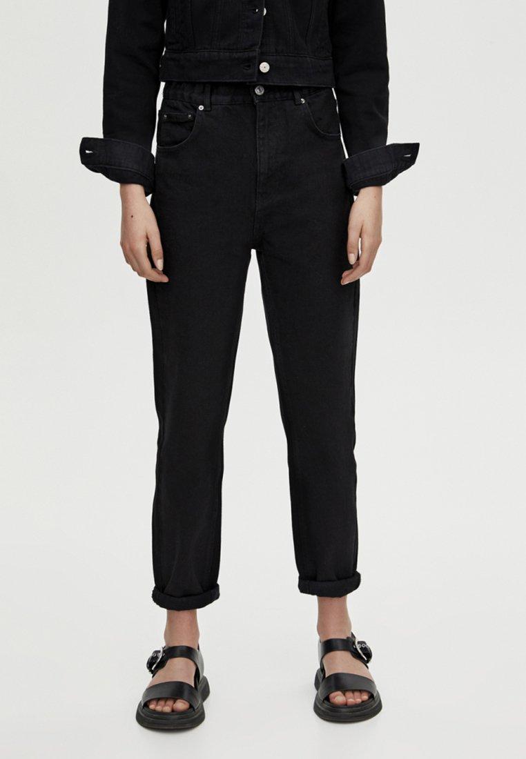 PULL&BEAR - Jeans Straight Leg - black