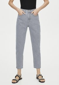 PULL&BEAR - MOM FIT - Straight leg jeans - grey - 0