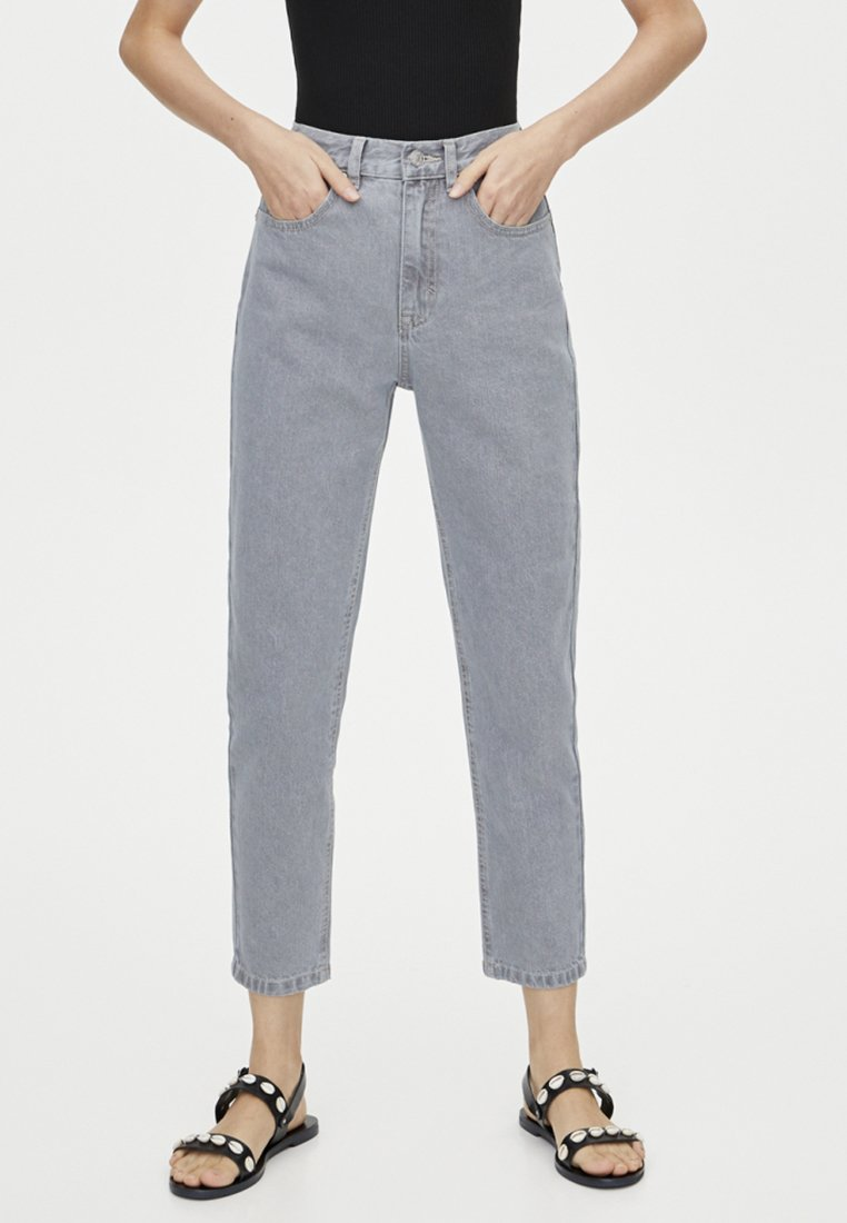 PULL&BEAR - MOM FIT - Straight leg jeans - grey