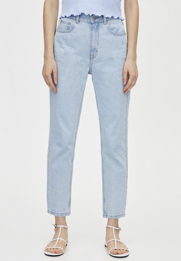 PULL&BEAR - BASIC MOM - Jeans Straight Leg - light blue