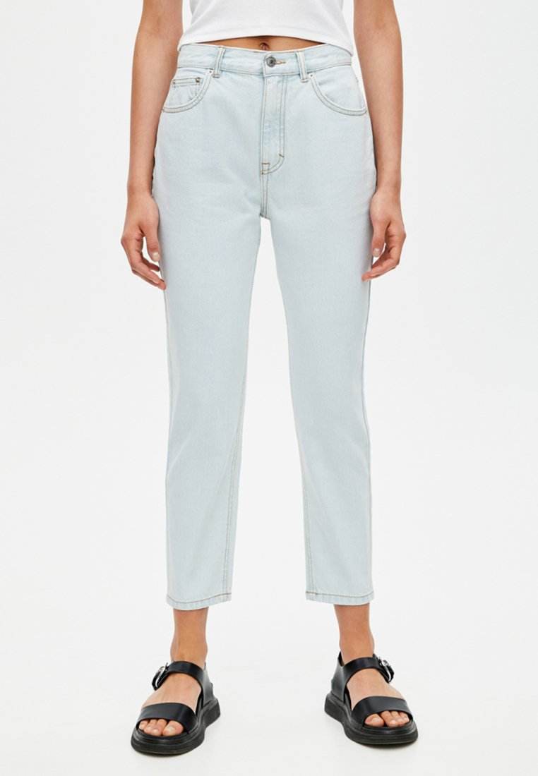 PULL&BEAR - BASIC MOM - Straight leg jeans - light-blue denim