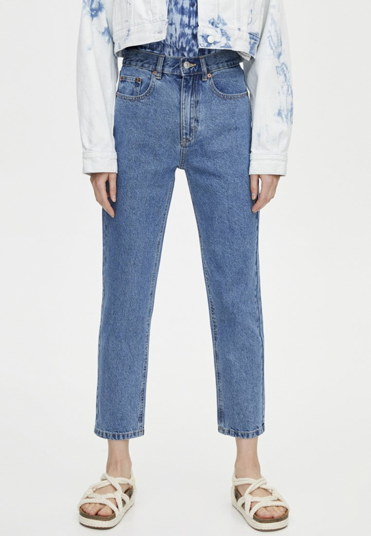 PULL&BEAR - BASIC MOM - Straight leg jeans - blue