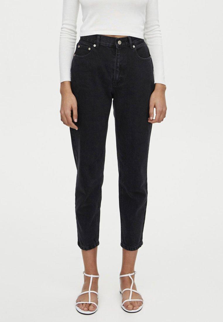 PULL&BEAR - BASIC MOM - Jeans Straight Leg - black