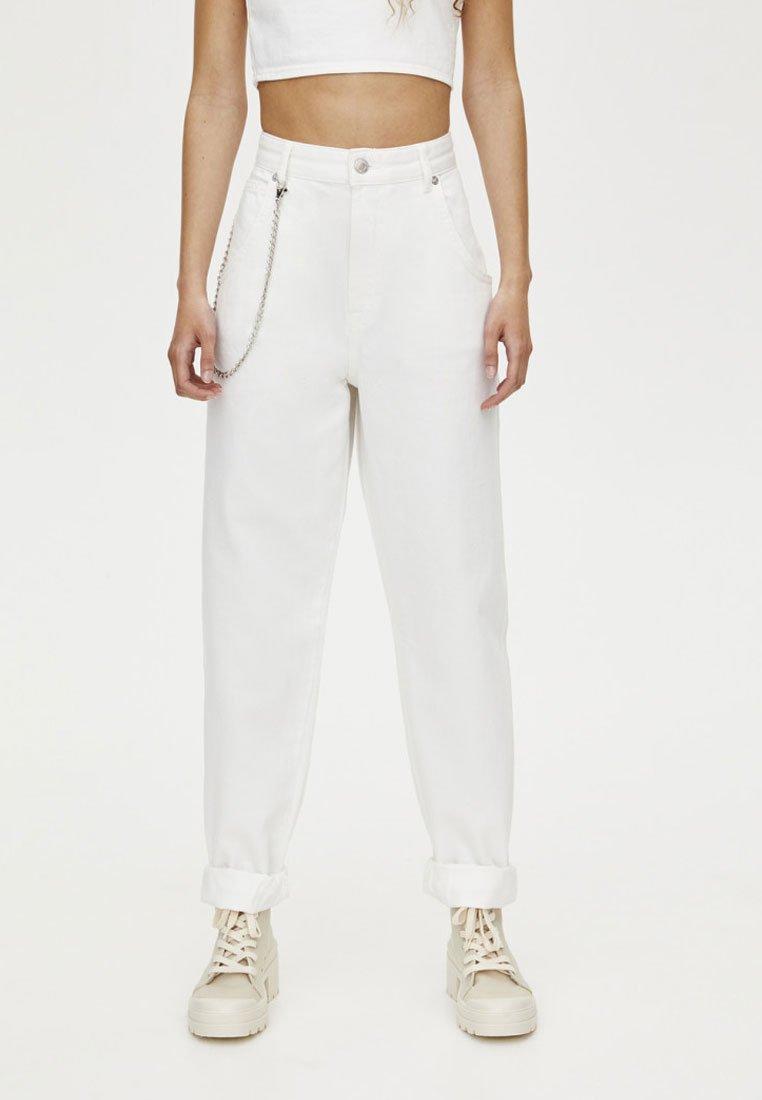 PULL&BEAR - Straight leg jeans - white