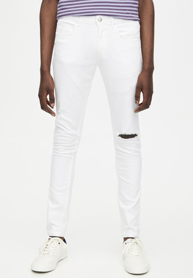 PULL&BEAR - SUPER-SKINNY-FIT - Jeansy Skinny Fit - white
