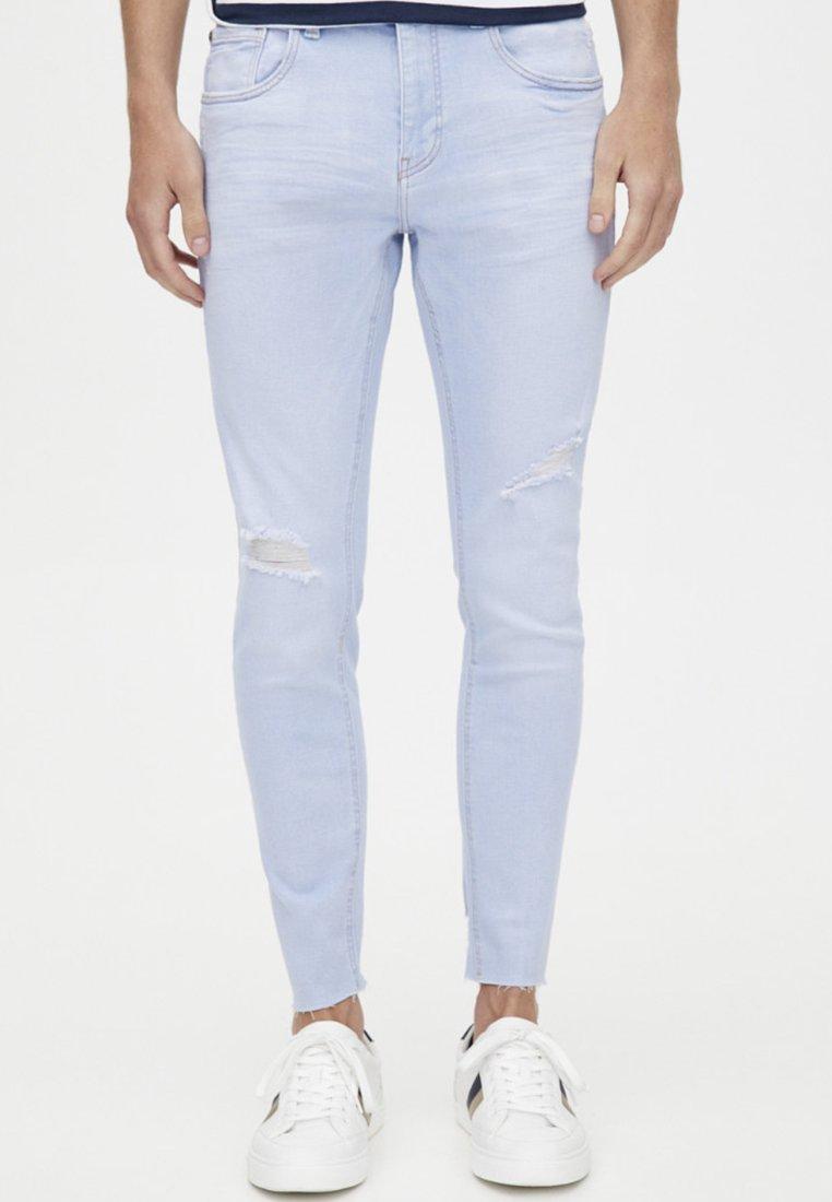 PULL&BEAR - Jeansy Skinny Fit - light blue