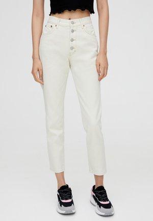MOM - Džíny Straight Fit - white