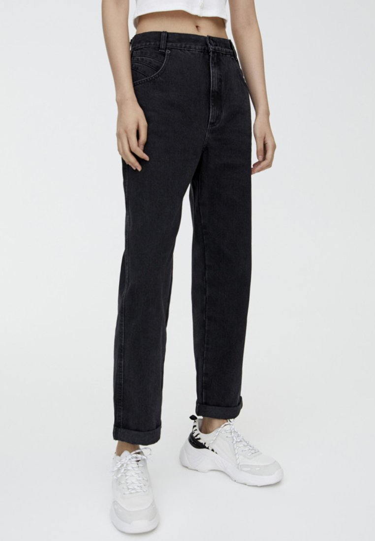 PULL&BEAR - MIT PASSE  - Jeans Straight Leg - black
