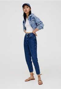PULL&BEAR - MOM - Slim fit jeans - blue - 1