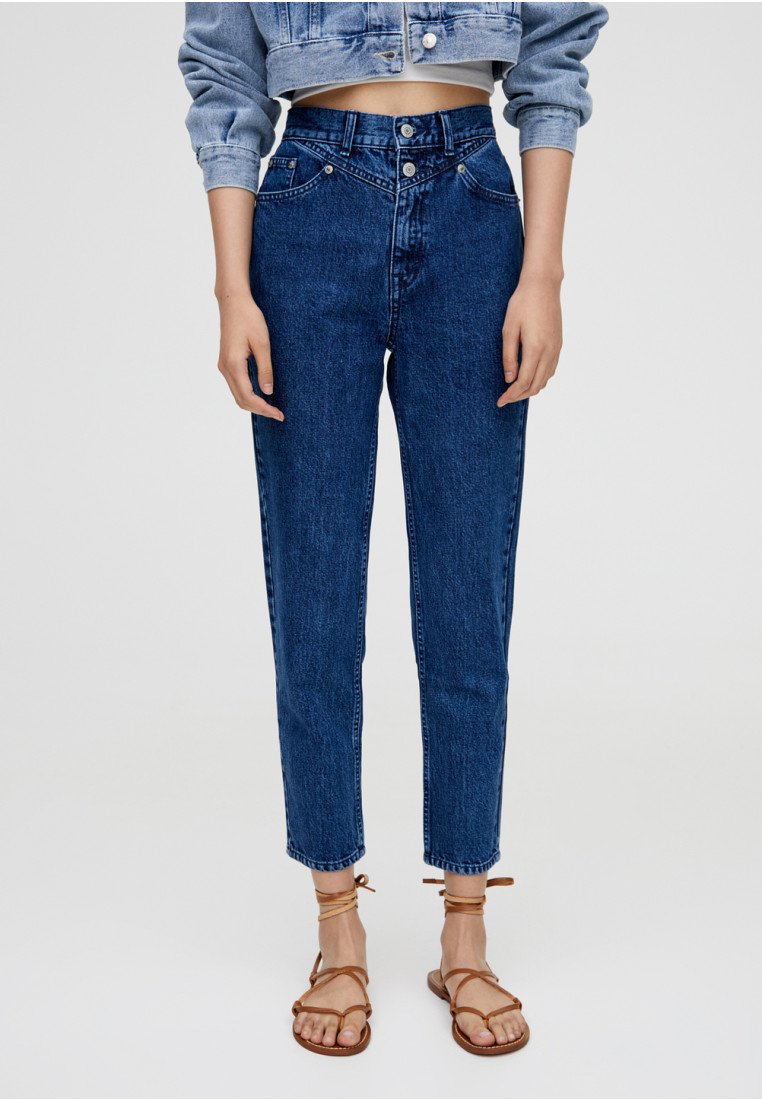 PULL&BEAR - MOM - Slim fit jeans - blue
