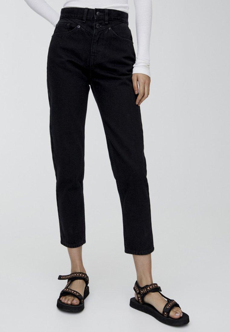 PULL&BEAR - MOM - Slim fit -farkut - black