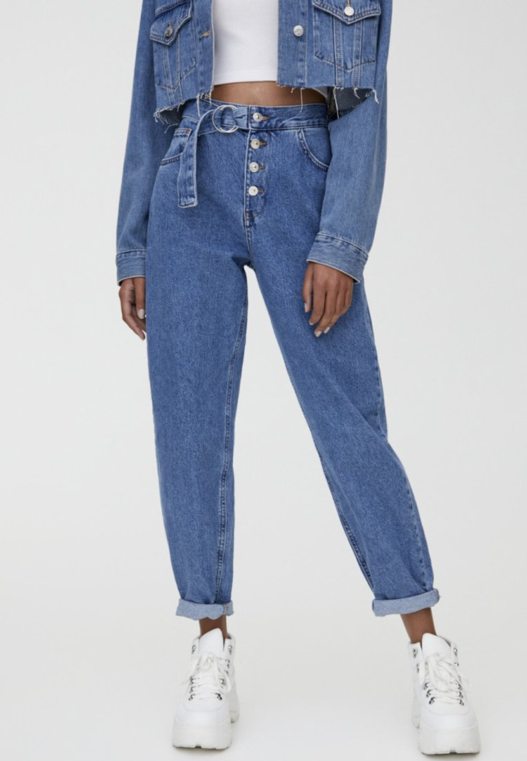 PULL&BEAR - SLOUCH - Jeans Relaxed Fit - blue