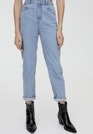 MOM FIT - Straight leg jeans - light blue