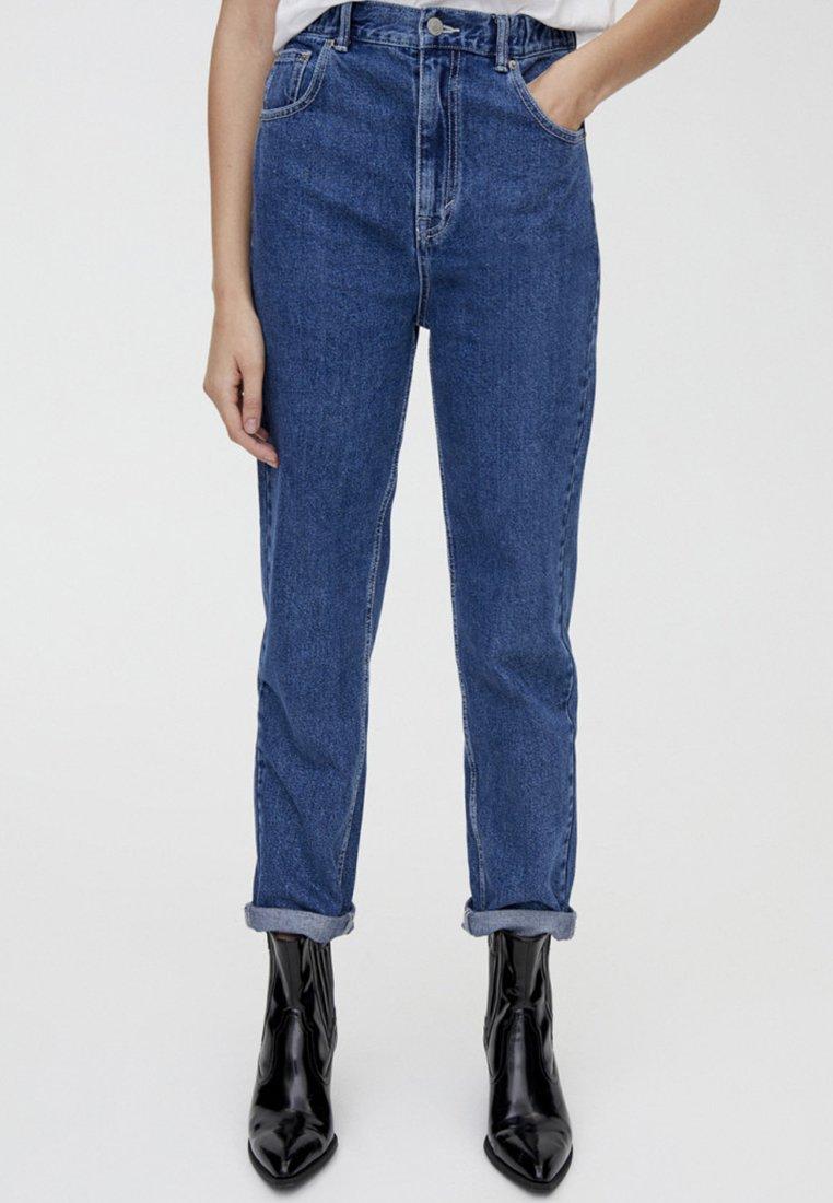 PULL&BEAR - MOM FIT - Straight leg jeans - blue