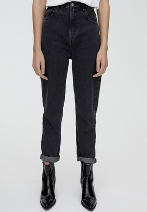 MOM FIT - Jeansy Straight Leg - black