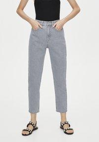 PULL&BEAR - BASIC-MOM - Slim fit jeans - grey - 0