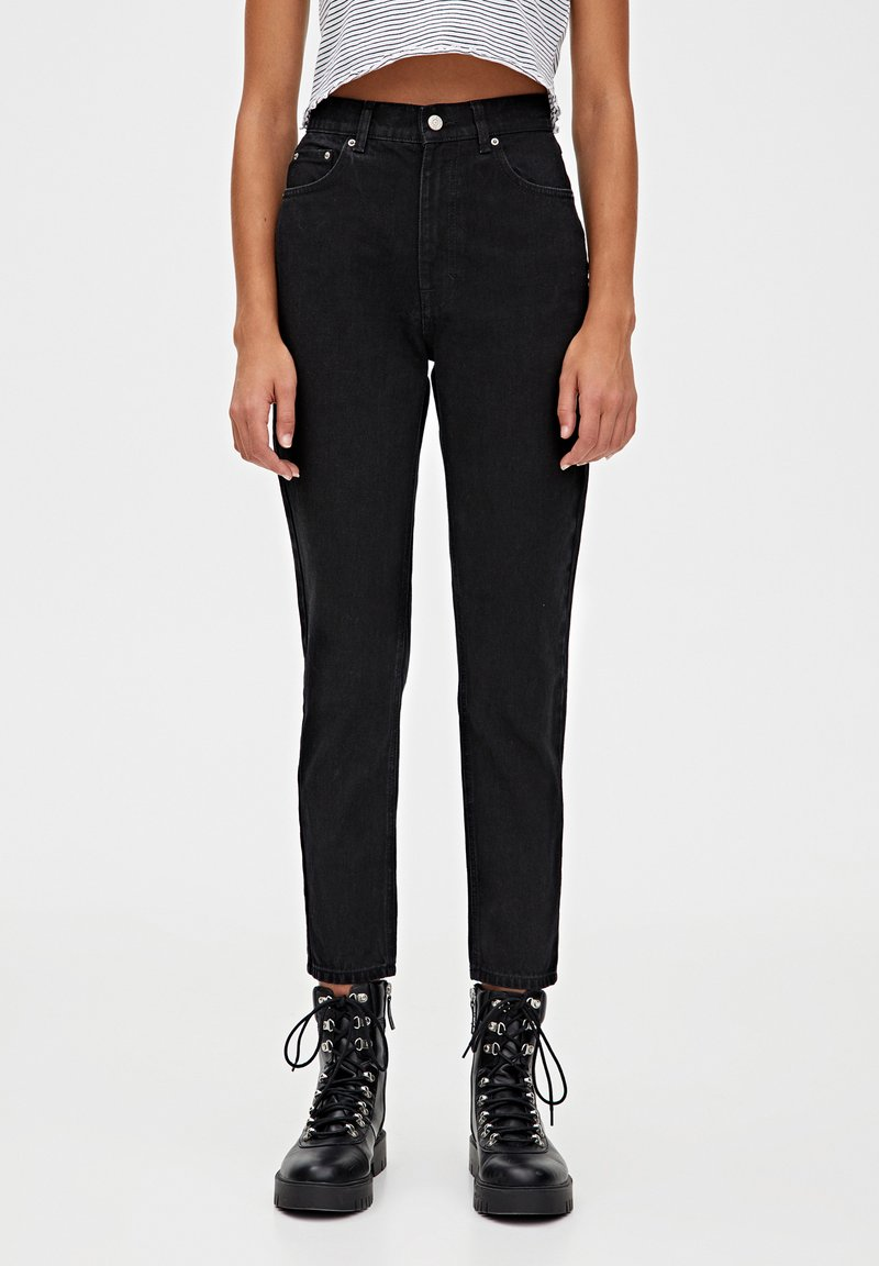 PULL&BEAR - BASIC-MOM - Jeans slim fit - dark grey
