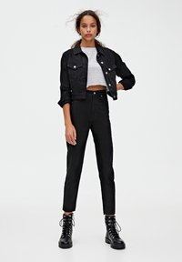 PULL&BEAR - BASIC-MOM - Jeans slim fit - dark grey - 1