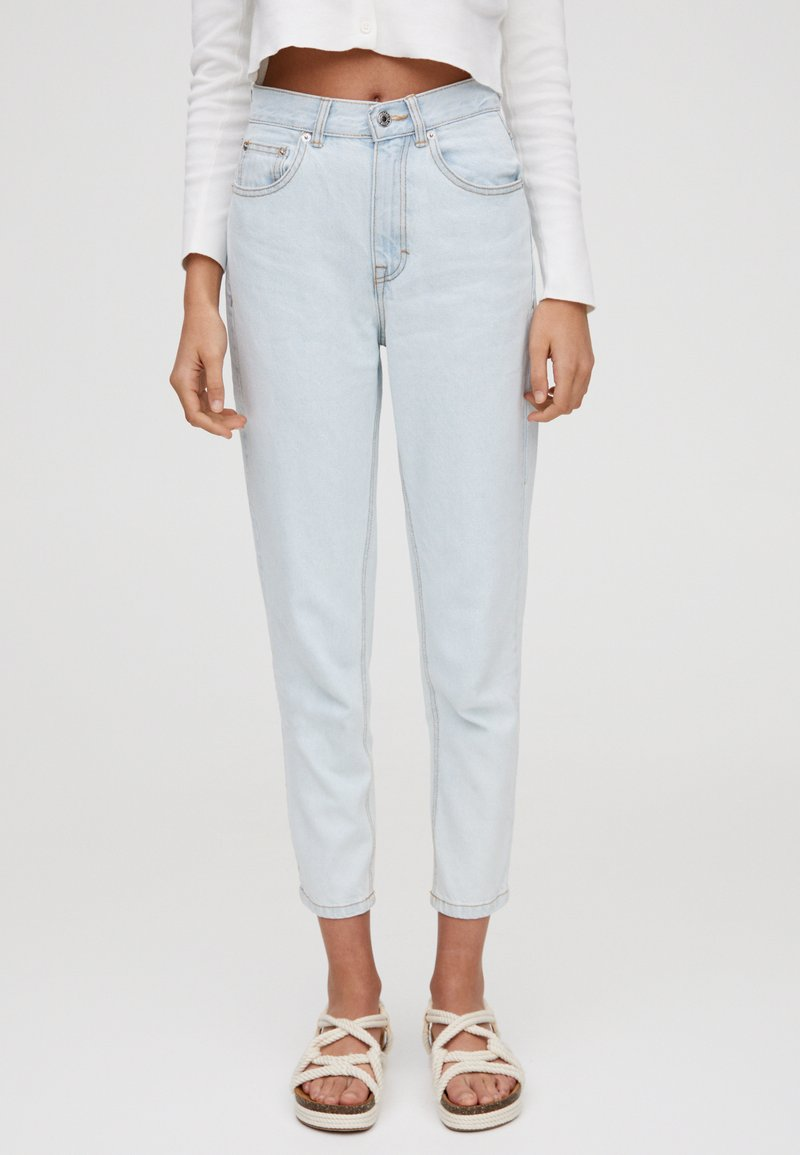 PULL&BEAR - BASIC-MOM - Slim fit jeans - light blue