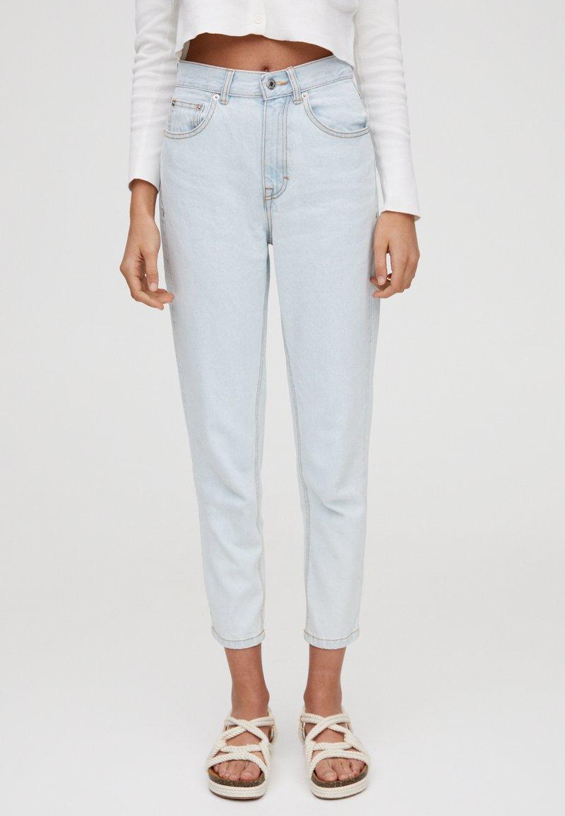 PULL&BEAR - BASIC-MOM - Slim fit jeans - light blue