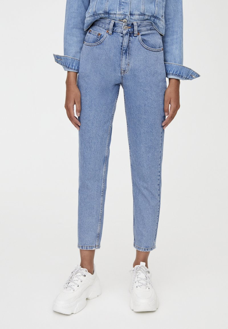 PULL&BEAR - BASIC-MOM - Slim fit -farkut - blue