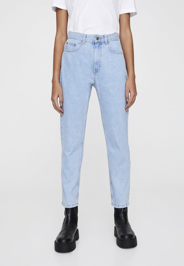 MOM - Slim fit jeans - mottled light blue