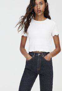 PULL&BEAR - BASIC-MOM - Slim fit jeans - black - 4