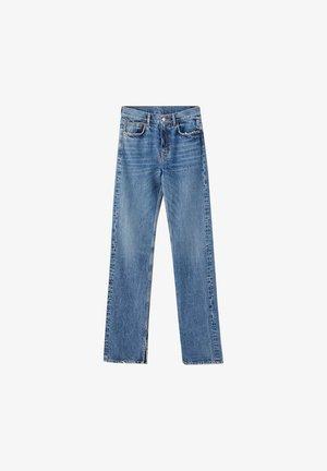 MIT HOHEM BUND - Jeans a sigaretta - blue denim