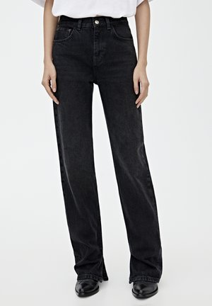 MIT HOHEM BUND - Straight leg -farkut - black