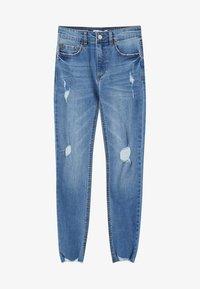 PULL&BEAR - MIT HALBHOHEM BUND UND RISSEN  - Jeans Skinny Fit - blue - 5