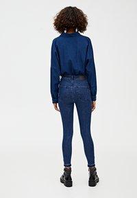 PULL&BEAR - MIT HOHEM BUND - Skinny džíny - dark blue - 2