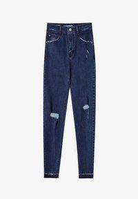 PULL&BEAR - MIT HOHEM BUND - Skinny džíny - dark blue - 5