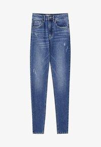PULL&BEAR - MIT HOHEM BUND - Jeans Skinny Fit - dark blue - 5
