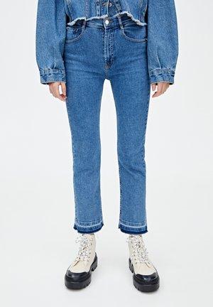 Jeans a zampa - dark blue