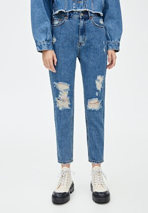 MOM  - Jeansy Straight Leg - blue