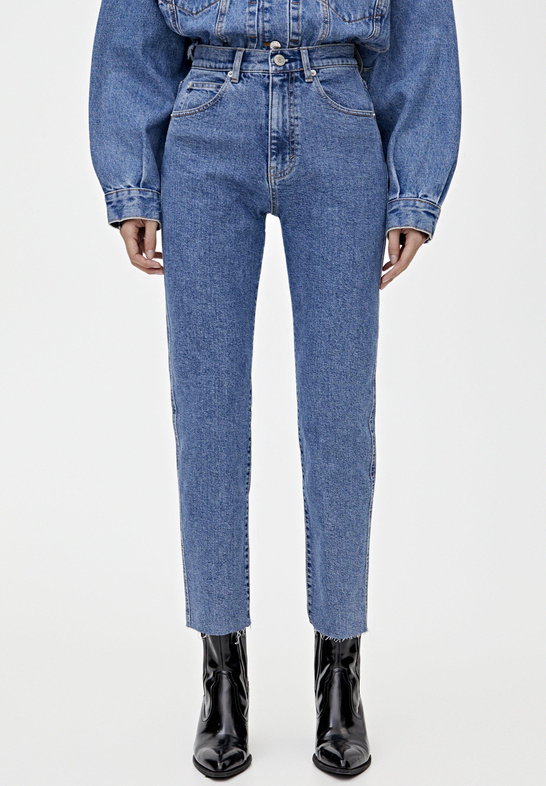 PULL&BEAR MOM - Jeansy Slim Fit - blue