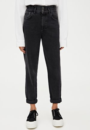 MIT STRETCHBUND - Straight leg jeans - black