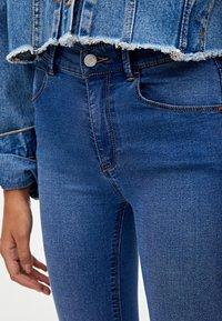 PULL&BEAR - MIT HALBHOHEM BUND - Jeans Skinny Fit - dark blue - 3