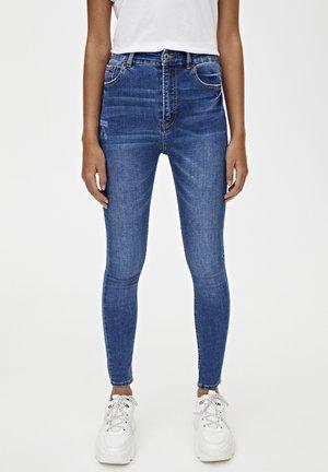 BASIC-JEANS IM SKINNY-FIT MIT HOHEM BUND 09684315 - Jeans Skinny Fit - dark blue